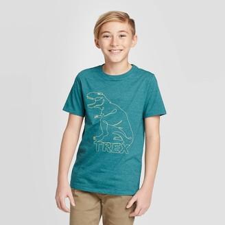 Cat & Jack Boys' Short Seeve Dinosaur Graphic T-Shirt - Cat & JackTM