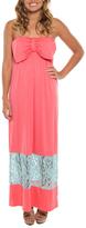 Pink & Aqua Maxi Dress