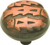 """Belwith Hickory Hardware P374-AC Country / Rustic Cabinet Knob with 1-1/4"""" Diameter from the Southwest Lodge Coll, Antique Copper"""