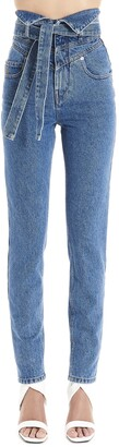 ATTICO Belted High Waist Jeans