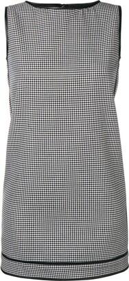 DSQUARED2 check pattern shift dress