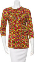 Carven Printed Three-Quarter Sleeve Top w/ Tags