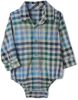 Gap Plaid flannel long sleeve bodysuit