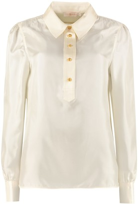 Tory Burch Long-sleeved Silk Blouse