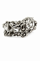 Low Luv x Erin Wasson by Erin Wasson Bone Armor Ring in Silver