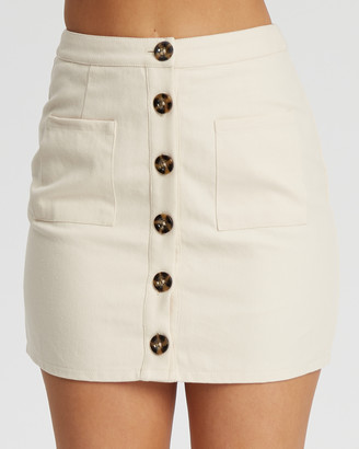 The Fated - Women's Neutrals Mini skirts - Saia Mini Skirt - Size One Size, 14 at The Iconic