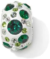 Charming Silver Inspirations Green Crystal Kaleidoscope Sterling Silver Slide Charm