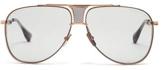 Dita Eyewear Decade Two Aviator Titanium Sunglasses - Mens - Gold