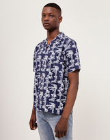 Carhartt WIP Short Sleeve Pine Hawaii Shirt Blue