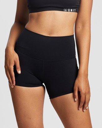 Unit Women's Black Shorts - Tempo Mini Active Shorts - Size One Size, 6 at The Iconic