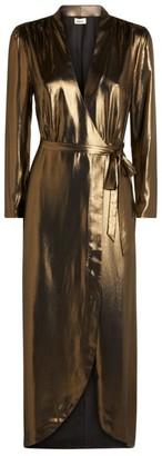 L'Agence Reliah Metallic Wrap Dress