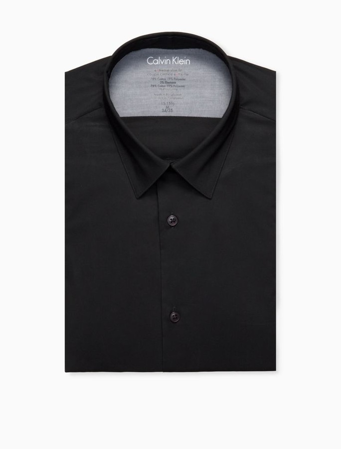 Calvin Klein Extreme Slim fit solid thermal dress shirt