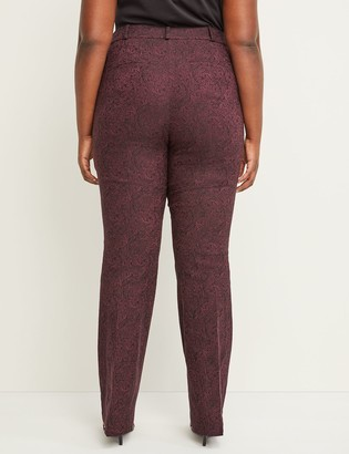 Lane Bryant Allie Sexy Stretch Boot Pant - Paisley Jacquard