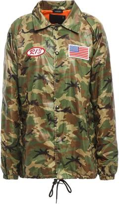 R 13 Appliqued Printed Shell Jacket