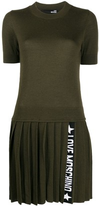 Love Moschino Pleated Knit Dress