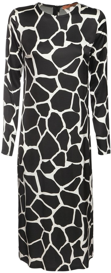 The Andamane Beulah Printed Jersey Midi Dress