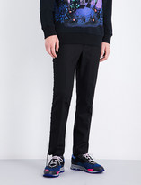 Lanvin Lace-up regular-fit straight wool trousers