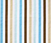 Bacati Mod Dia/Strips Aqua and Choc Stripes Crib fitted sheet by