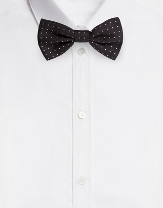 Dolce & Gabbana Bow-Tie In Printed Silk