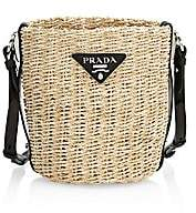 Prada Women's Raffia Bucket Bag