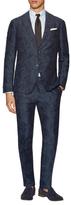 Luca Roda Linen Printed Notch Lapel Suit