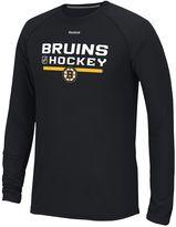 Reebok Men's Boston Bruins Authentic Locker Room Tee