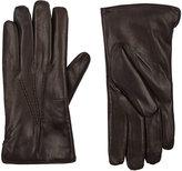 Barneys New York Men's Fur-Lined Gloves-DARK BROWN