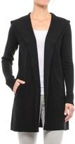 Tahari Boiled Wool Funnel Neck Cardigan Sweater (For Women)