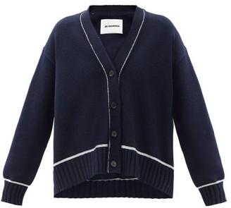 Jil Sander Oversized Wool-blend Cardigan - Navy