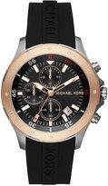 Michael Kors Men's Chronograph Walsh Black Silicone Strap Watch 44mm MK8568