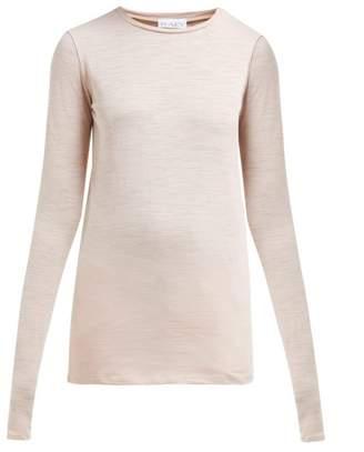 Raey Long-sleeved Slubby Cotton-jersey T-shirt - Womens - Light Pink