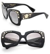 Versace 54MM Embellished Acetate & Metal Butterfly Sunglasses