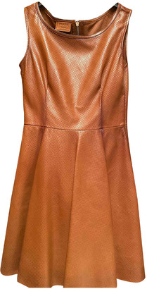 Prada Brown Leather Dresses