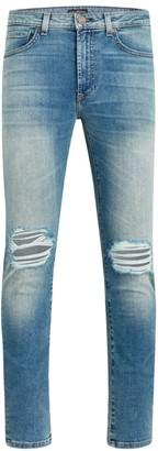 Monfrère Greyson Skinny-Fit Distressed Jeans