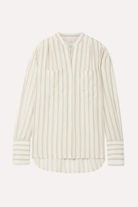 Frame Oversized Striped Gauze Shirt - Off-white