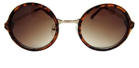 Fantas-Eyes Fantas-Eyes, Inc. Women's Round Tortoise Sunglasses - Gold