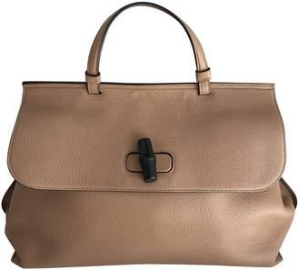 Gucci Bamboo Camel Leather Handbags