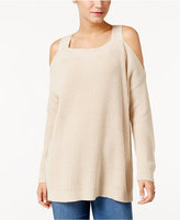 Style&Co. Style & Co Ribbed Cold-Shoulder Sweater, Only at Macy's