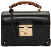 Gucci Black Small Bamboo Padlock Bag