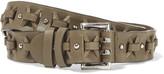 Emilio Pucci Studded cutout leather belt
