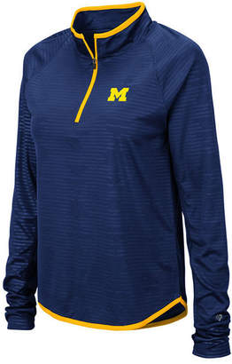 Colosseum Women Michigan Wolverines Soulmate Quarter-Zip Pullover