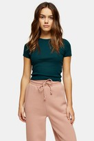 Topshop Womens Petite Forest Green Everyday T-Shirt - Forest