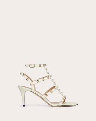 Valentino Garavani Rockstud Calfskin Ankle Strap Sandal 70 Mm Women Light Ivory Calfskin 100% 40