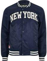 River Island Blue Schott 'new York' Bomber Jacket