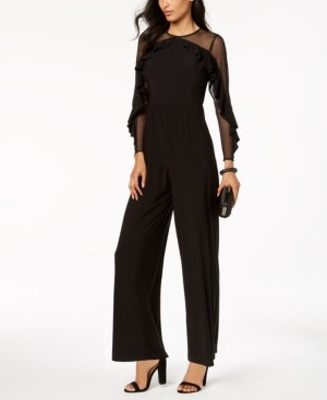 R & M Richards Illusion Jumpsuit