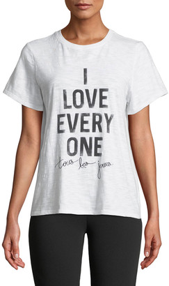 Cinq à Sept Tours Les Jours I Love Everyone Short-Sleeve Graphic Tee