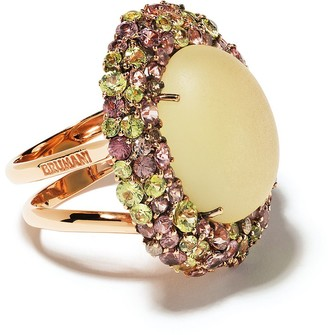 Brumani 18kt rose gold Baoba diamond, sapphire and quartz ring