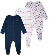 Mothercare BOYS INTO THE WOODS SLEEPSUIT BABY 3 PACK Pyjamas grey