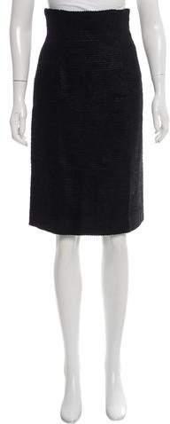 Collette Dinnigan Textured Pencil Skirt