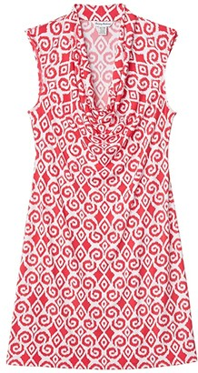 Tommy Bahama Bimini Ikat Cowl Neck Dress (Amaranth) Women's Clothing